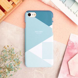 Classic Series - Aqua Blue Geometric Square (iPhone.Samsung Samsung, HTC, Sony.ASUS Mobile Phone Case Cover)