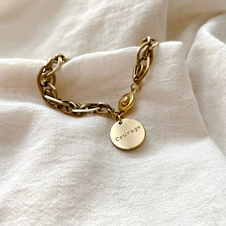 Courage- Brass bracelet