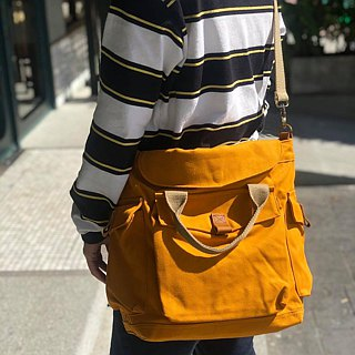 New Mustard Canvas 2way Bag / Messenger Vintage Style
