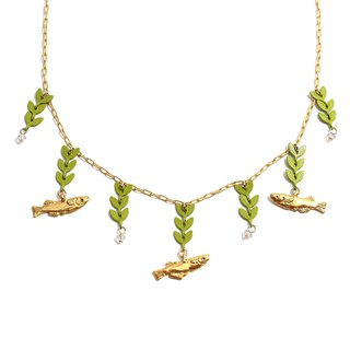 River of Rice fish Necklace めだかの川ネックレス NE387