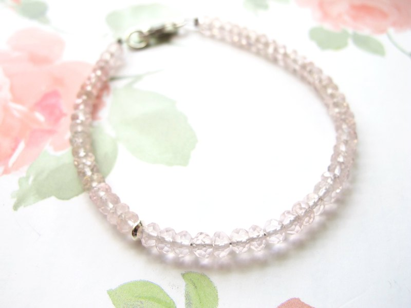 [Small Angle Series - Pink] Pink Crystal x 925 Silver Jewelry - Natural Stone Series