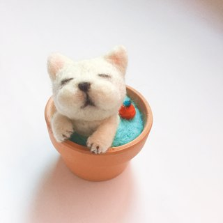 [bubble music pottery] wool felt animal soup pot _ 斗斗苹安汤可加 note clip dog apple