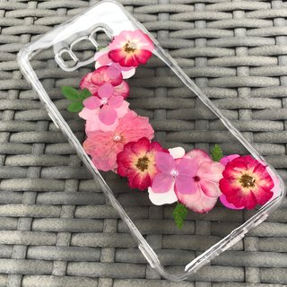 Samsung Galaxy S8 Dry Pressed Flowers Case Red Flower case 011