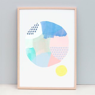 Giclee Print  Minimalist Abstract Art - Abstract Circle 105 (Unframed)