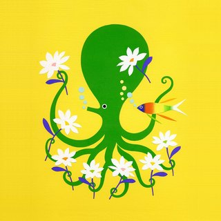 Octopus Garden minoru furuse Illustration japan Illustration original stencil handmade