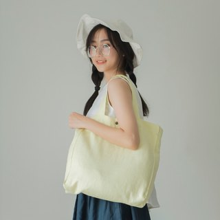 Casual Linen Tote Bag (Lemon)