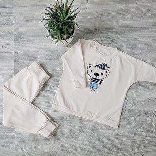 Two piece kids pajamas teddy