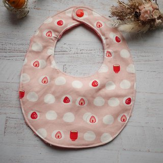 Strawberry saliva towel bib