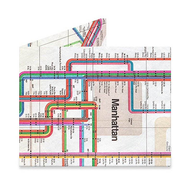 New York Subway Map Wallet.Mighty Wallet R Paper Wallet R Vignelli Subway Map