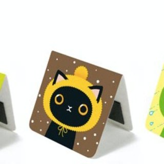 & Cabinet cat magnet bookmark - Cat's hat