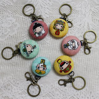 Macarons charm key ring _ good God series