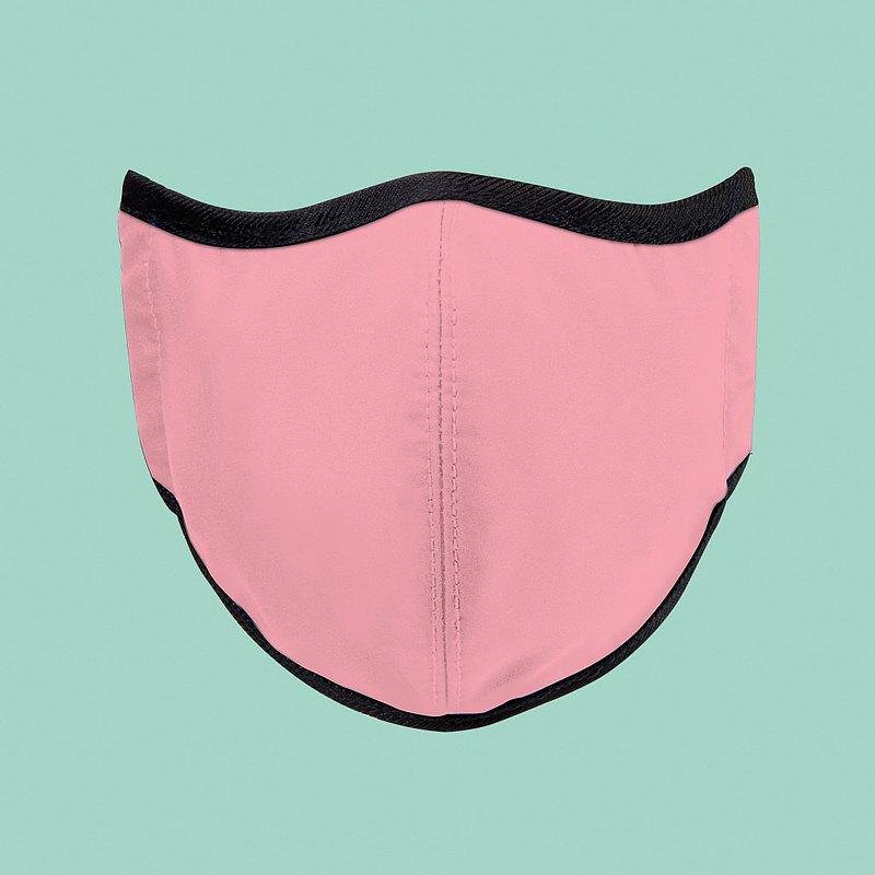 台灣製造MIT 高抗菌透氣可水洗 玩色系列_櫻花粉_防護布口罩