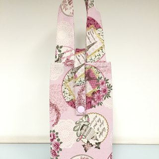 Eco-friendly beverage bag, accompanying bag, breakfast bag, French romantic