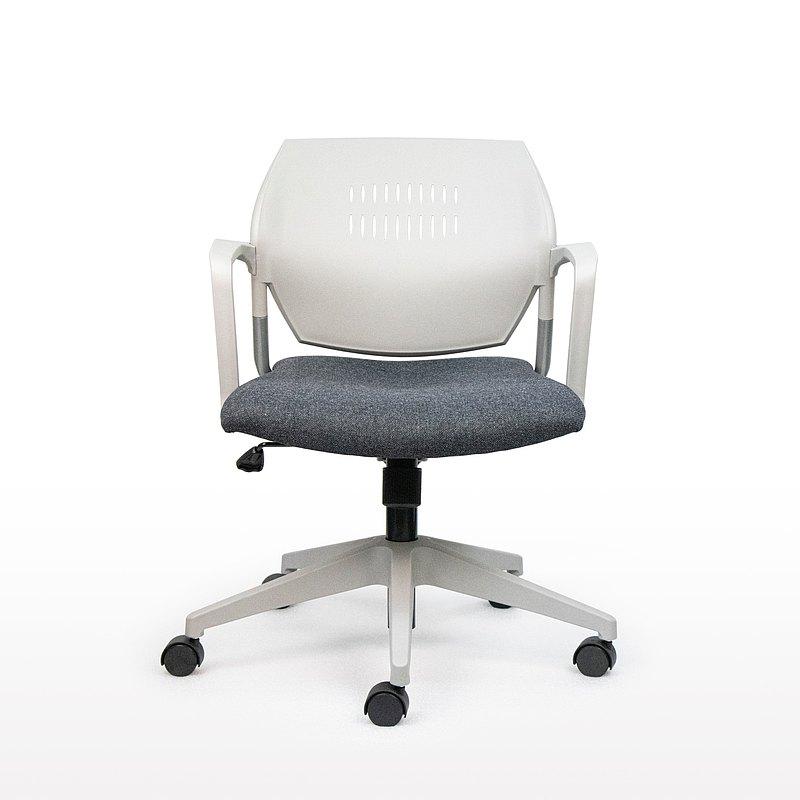 IMPRESSA | 小資扶手辦公椅 - 灰 x 深灰座