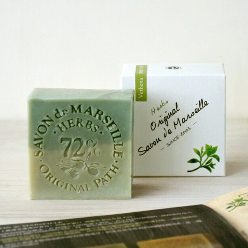 Verbena Herb Marseille Soap │72% Pure Olive Oil Handmade Cold Washing Bath Soap │ Woju Trail