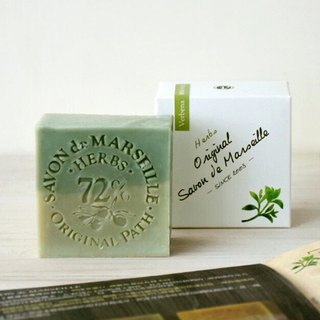 Verbena Garden Herbal Marseille Soap│72% Pure Olive Oil Handmade Cold Wash Bath Soap