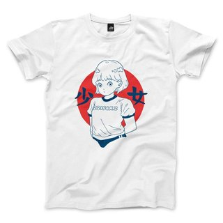 Girl - White - Female T-shirt