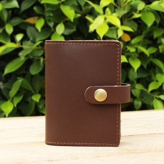 Card Holder - Brown (Genuine Cow Leather) / Card Case / Business Card Holder