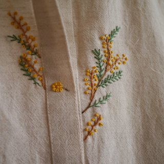 Acacia Hand Embroidered Sleeveless Dress - Rice