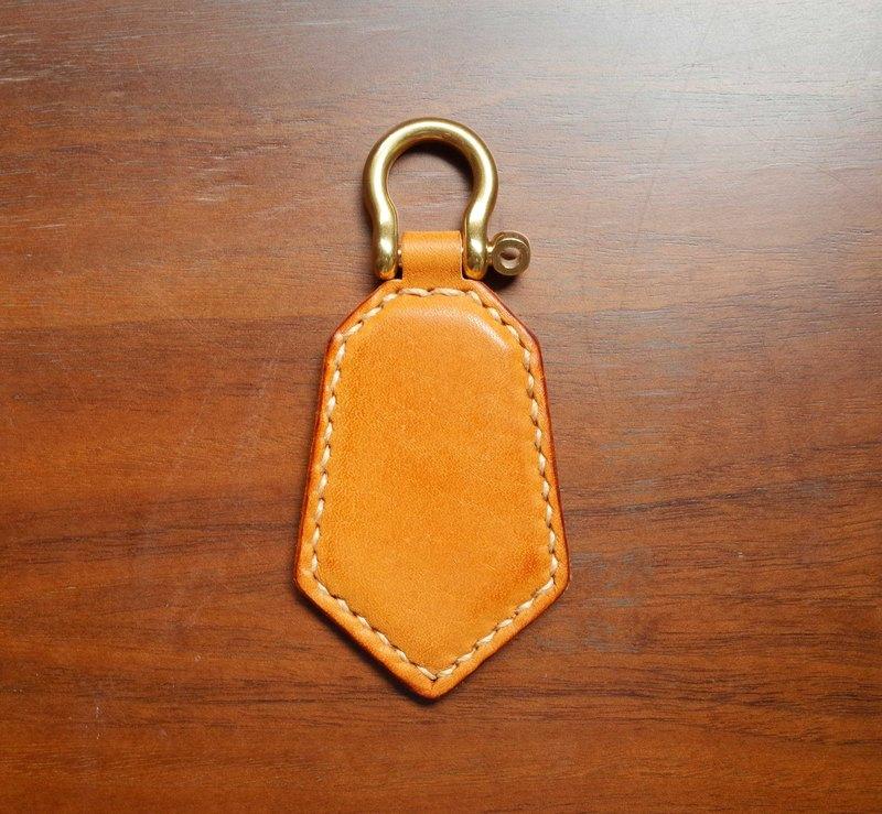 悠遊卡晶片吊飾-鑰匙圈款-淺咖啡色