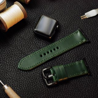 Applewatch leather hand strap strap - forest green [Italian Association certification] [buttero]