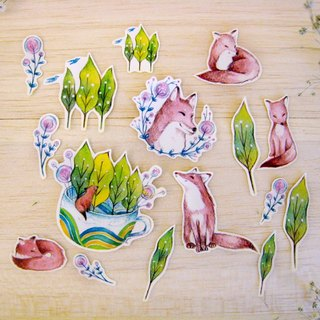"""Nature Department - forest fox"" sticker set"