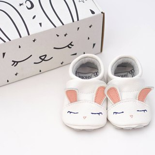 [European] pink rabbit First baby shoes handmade soft bottom leather toddler shoes / indoor shoes