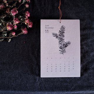 Letterpress printing, plant flowers illustrations calendar, calendar, calendars, memos, pre-requisites