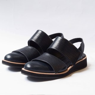 ZOODY / Links / handmade shoes / Men / Hollow back with platform sandals / dark blue black