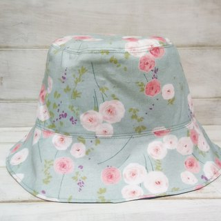 Watercolor painted wind flowers stars fireworks double-sided fisherman hat visor