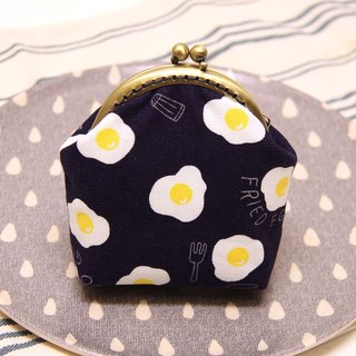Rolia's hand as early as the purse egg mouth gold package dark blue