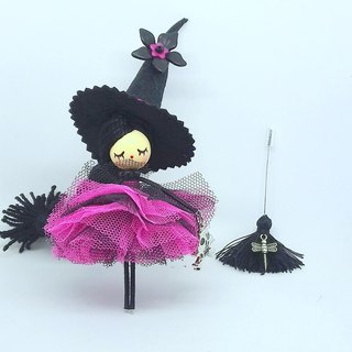 Witch brooch doll