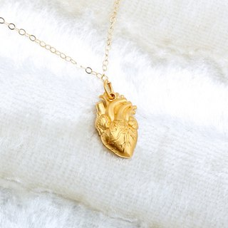 Heart-shaped s925 sterling silver 24k gold plated necklace Valentines Day gift