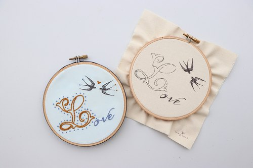 Love your love letter illustration embroidery material package