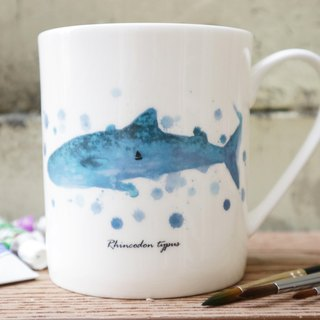Bone china mug - whale shark dream / whale / whale shark / dream / fearless / microwave / through the SGS