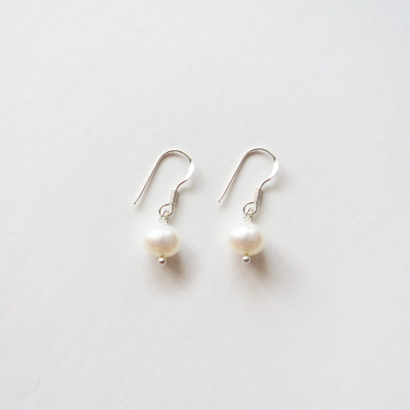 925 Silver Fresh Water Pearls  Earrings-Sold as a Pair