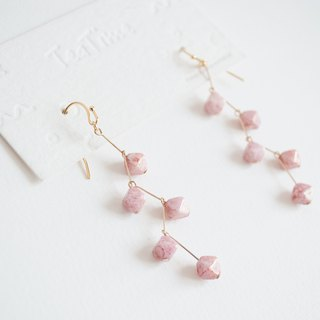 TeaTime Cherry Blossom Earphones Ear Ear Clips