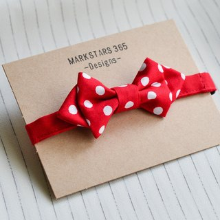 Red and white dots - bow tie