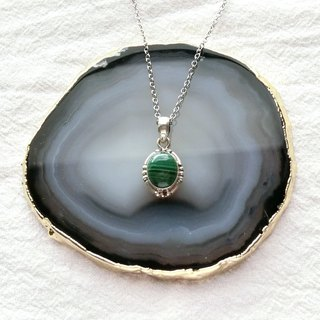 Malachite 925 sterling silver will be simple style necklace Nepalese handmade silverware