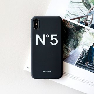 5 degree early autumn black phone case
