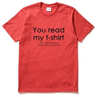 You read my t shirt red t shirt