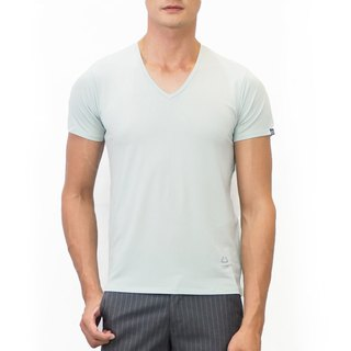 Copper Ammonia Comfort V-neck Tee - Mint Green