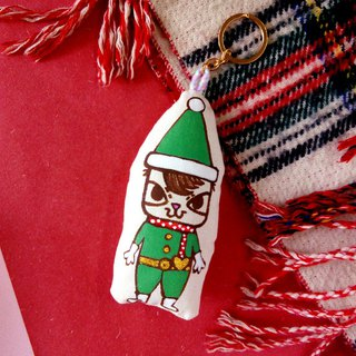 Thieves cat Christmas ornaments doll cotton cushion hand-painted hand-made Keychain