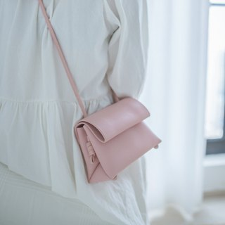 MINI baby powder macaron ice cream color minimalist handmade color leather leather diagonal bag