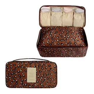 MPL-animal print travel close-fitting clothing bag - leopard print brown, MPL24536