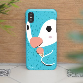 iphone case blue penguin ice cream for iphone 6 plus, 7, 8 , iphone xs ,xs max