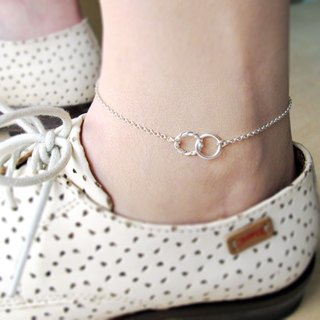 Roll twist twist-925 sterling silver anklet (female models)