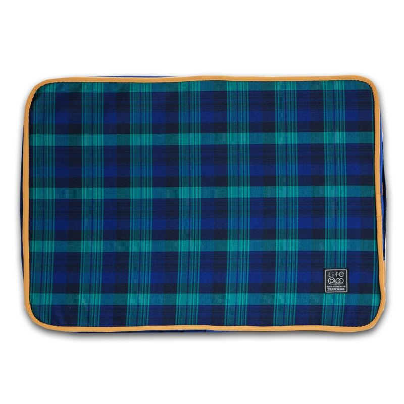"""Lifeapp"" mattress replacement cloth cover S_W65xD45xH5cm (Blue Plaid) without sleeping mats"