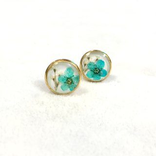 Classic Glden Pressed Flower Earrings