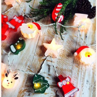20 Christmas set cotton ball string lights Cotton ball for Christmas